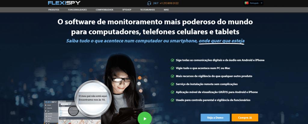 Flexispy espião para celular