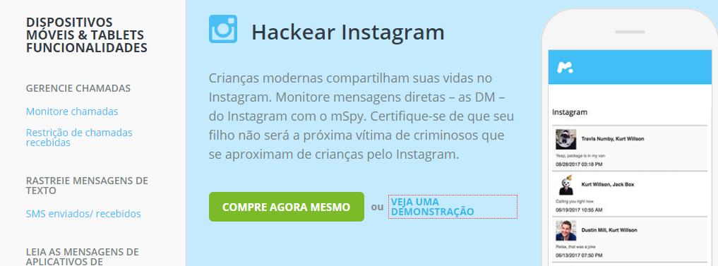 Hackear Instagram como mSpy