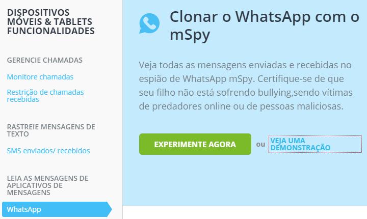 clonar o Whatsapp com o mSpy